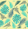 pattern tropical foliage in vintage style vector image vector image