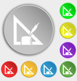 Pencil and ruler icon sign Symbol on eight flat vector image vector image