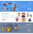 pest control service landing page templates set vector image