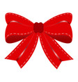 red gift bow vector image