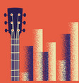 retro music poster background with guitar vector image vector image