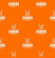 saber pattern orange vector image