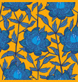 seamless abstract floral pattern with blue flowers vector image vector image
