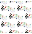 Seamless colorful music notes pattern vector image