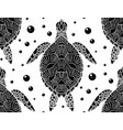 seamless pattern with black and white silhouette vector image vector image