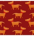 Seamless pattern with repeating dog on red vector image