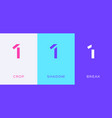 set number 1 minimal logo icon design template vector image vector image