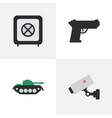 set of simple offense icons elements vault vector image vector image