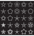 set stars geometric shapes vector image