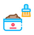 shoe cream brush icon outline vector image vector image