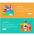 skin care and cosmetic set vector image