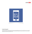 smart phone icon - blue photo frame vector image