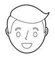smiling young face boy cartoon male vector image vector image