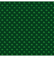St patrick pattern green vector image
