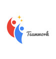 teamwork icon business concept team work humans vector image