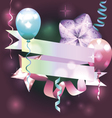 Template for invitation birthday card postcard vector image vector image