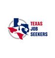 texas job search logo vector image vector image