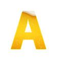the alphabet in form lemonade or beer vector image vector image