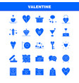 valentine solid glyph icon pack for designers and vector image vector image