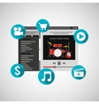 website music design vector image