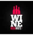 wine bottle glass design menu background vector image vector image
