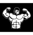 body builder vector image