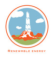 renewable energy geothermal power vector image