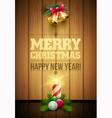 Christmas Message board vector image