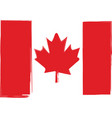 grunge canada flag or banner vector image