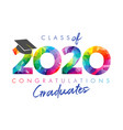2020 facet colored graduate vector image vector image
