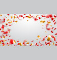abstract background confetti and serpentine vector image vector image