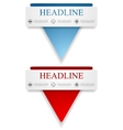Abstract banners with triangle shape vector image vector image
