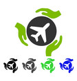 aviation care flat icon vector image vector image