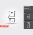 bachair line icon with editable stroke vector image