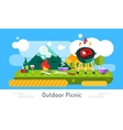 Barbecue and food icons set outdoor vector image