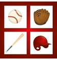 Baseball sport game vector image vector image