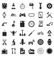 battery icons set simple style vector image