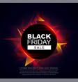 black friday sale banner black circle frame vector image