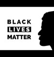 black lives matter poster with face vector image