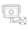 cctv security camera front view outline drawing vector image vector image