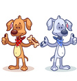 Character dog with a finger up vector image vector image