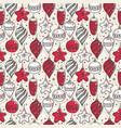 christmas seamless pattern with christmas symbols vector image