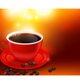 coffee cup realistic background vector image vector image