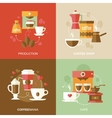 Coffee icons flat vector image