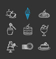 confectionery chalk icons set vector image vector image