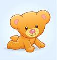 cute cuddly teddy bear crawling vector image vector image