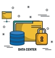 data center flat line icons vector image vector image