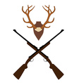 Deer horns and rifle vector image vector image