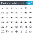 diodes and bridge rectifier electrical symbols vector image vector image