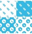 Discount patterns set vector image vector image